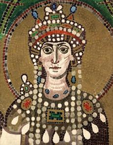 Souvenirs of empires past: the Byzantine Empress Theodora, circa 530 AD.